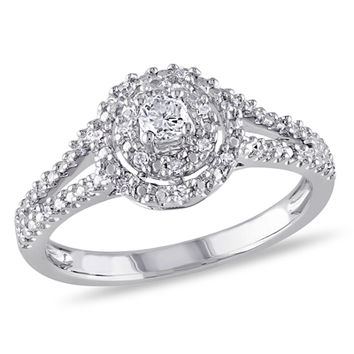 1/5 CT. T.W. Diamond Double Frame Ring in Sterling Silver
