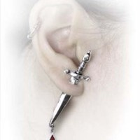 Amazon.com: Cesare's Veto Earring by Alchemy Gothic, England: Jewelry