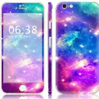 """NDAD Purple Blue Universal Art Protective Skin Decal Stickers Body Protector for Apple iphone 6 with 4.7"""" inch screen"""