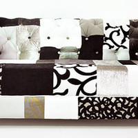 b&w chesterfield patchwork sofa