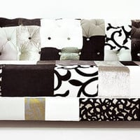 b&amp;w chesterfield patchwork sofa 