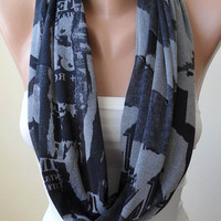New - Infinty Scarf - Circle Scarf  -  Loop Scarf - Grey Scarf