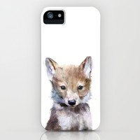 Little Wolf iPhone & iPod Case by Amy Hamilton
