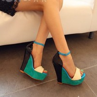 iOffer: 2012 open toe Jmiss wedge heel strap women shoes STL for sale