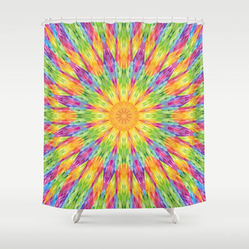 Colorful Rainbow Crystals Shower Curtain by 2sweet4words Designs