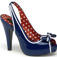 "4 1/2"" Pin-Up Peep Toe Pump (Bettie-05)"