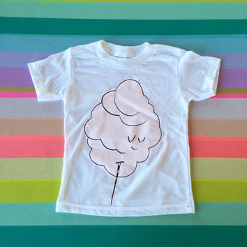 Children's T-Shirt - Cotton Candy  (White - 50/50)