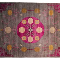 "8'2""x10"" Sari Wool Khotan Rug, Gray, Area Rugs"