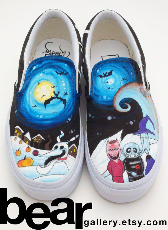 Custom Vans- Nightmare Before Christmas from beargallery on Etsy