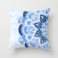 Lacy Blues Throw Pillow by Tangerine-Tane