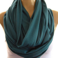 Perfect Teal.. Nomad Cowl.....Infinity Scarf..Relaxed version..Super soft.