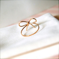 Ribbons -- Goldfilled Ribbon Rings .. on Luulla