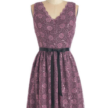ModCloth Mid-length Sleeveless A-line Delicate Dazzle Dress