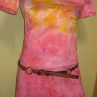 Tie Dye Tunic/dress in Pink Lemonade