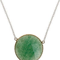 Zoe B. Aventurine Disc Necklace - Max and Chloe