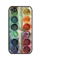 Rubber Case watercolor palette case for iPhone 4s/4