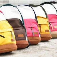 YESSTYLE: Smoothie- Color-Block Canvas Backpack
