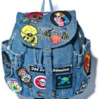 Kittiya Naranong Throw 'em Up Patched Backpack Denim One