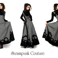 The Gearwerks dress by Steampunk Couture Grey by SteampunkCouture