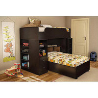 Walmart: South Shore Logik Collection Loft Bunk Bed, Chocolate