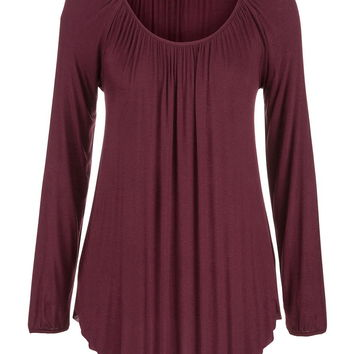 lightweight draped tunic