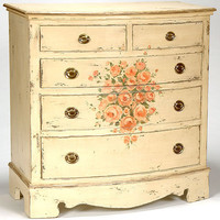 Roses In Bloom Five Drawer Chest : Drawer Chests at PoshTots