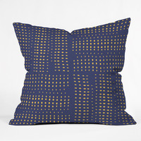 """Zoe Wodarz Summer Porch Blue Throw Pillow  16"""" x 16"""" Sample Sale - Everyday Indoor / 16"""" x 16 / Pillow Cover With Insert"""