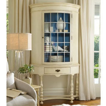 Pamlico Half-Round Cabinet in Choice of Color - China Cabinets & Buffets - Dining Room, Kitchen & Bar - Furniture - PoshLiving