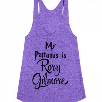 My Patronus is Rory Gilmore-Female Tri Orchid Tank