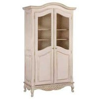 Bonne Nuit Grand Armoire with Wire Doors in Versailles Finish - Armoires &amp; Media - Accent Furniture - Furniture - PoshLiving