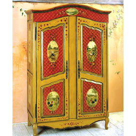 Rouge Provincial Armoire - Armoires & Media - Accent Furniture - Furniture - PoshLiving