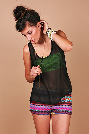 Holey Saint Tank - Chiffon Tanks at Pinkice.com