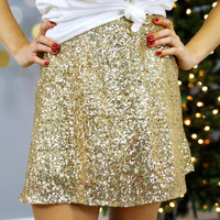 Lucky You Skirt - Gold