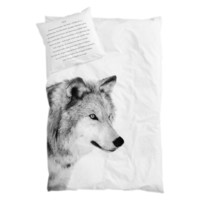 BY NORD Wolf Adult Double Size Duvet and Pillow Cover Set - By Nord Wolf Adult Double Bedlinen