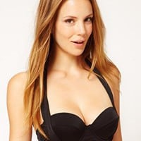 ASOS Mix and Match '50s Halter Padded Bikini Top at asos.com