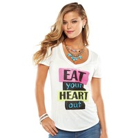 Juicy Couture ''Eat Your Heart Out'' Graphic Tee - Women's
