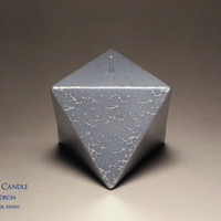 Sacred Geometry Sculpture Candle - Octahedron (Cosmic Silver) - Platonic Solid - Modern Decor - Geometric Decor - Metaphysical