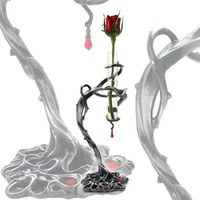 Unus Thorns of Passion Pewter Bud Vase - Candle Holders & Vases - Home Stuff - Gothic, Vampire & Steampunk stuff at GothicPlus.com (Powered by CubeCart)