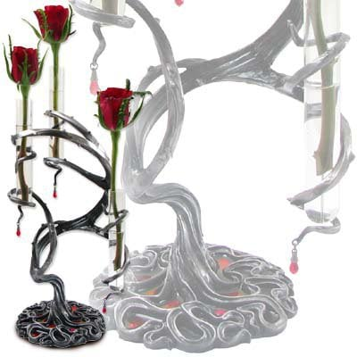 Tres Thorns of Passion Bud Vase - Candle Holders &amp; Vases - Home Stuff - Gothic, Vampire &amp; Steampunk stuff at GothicPlus.com (Powered by CubeCart)