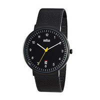 Braun Men&#x27;s Analog, Mesh Band Black [GS-BN32BKBKMHG] - $225.00 - GSelect  - Gifts for Men. Unique, Cool Gift Ideas and Presents