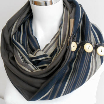 Men's scarf, Striped men scarf, Brown scarf, Unisex scarf, Brown, beige, gray scarf, Male…