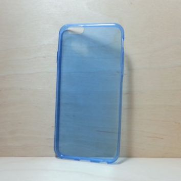 0.3 mm Super Slim TPU Soft Silicone Case for iphone 6 (4.7 inches) - Transparent Blue