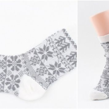 Winter Jacquard Socks