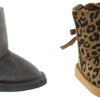 Kids Warm Boots With Bows-5 Assorted Colors!