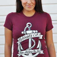 JCLU Forever Christian t-shirts — HOPE ANCHOR MAROON -Christian T-Shirt