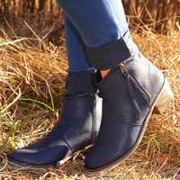 Make Me Miss You Booties: Navy