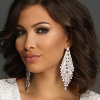 Silver Kite Rhinestone Earrings