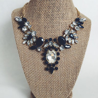 Kaylin Blue Statement Necklace and Earring Set