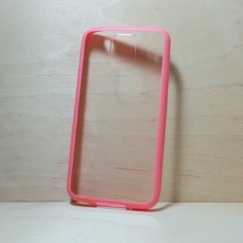 Silicone Bumper and Clear Hard Plastic Back Case for Samsung Galaxy S5 - Watermelon