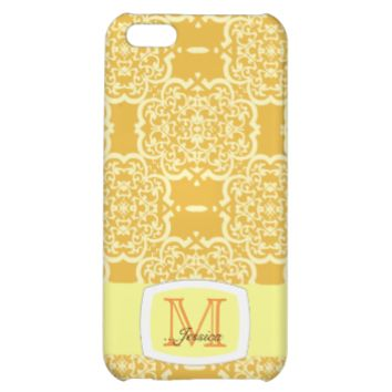 Quatrefoil Damask (Yellow) iPhone 5C Cover